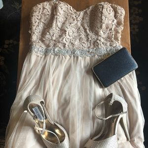 Champagne mini formal dress